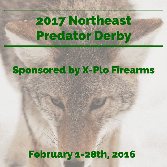2017 Northeast Predator Derby Plattsburgh, NY February 1-28,2016